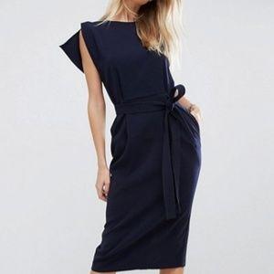 Navy blue pencil skirt dress